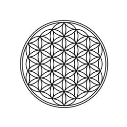 Flower of life and tree of life